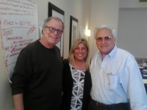 From left, AFSA's General Counsel Bruce Bryant and GEB members Elaine Papas and Dominic Sacchetti pose during a breakout group session.